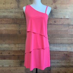 Vince Camuto Pink Tiered Sleeveless Dress